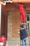 别墅监控安装作业.